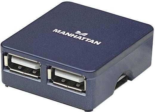 4 portos USB 2.0 hub, kék színű Manhattan 160605
