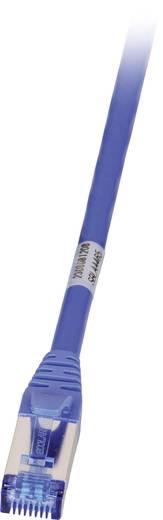 RJ45 Hálózati csatlakozókábel, CAT 6A S/FTP [1x RJ45 dugó - 1x RJ45 dugó] 1 m, kék