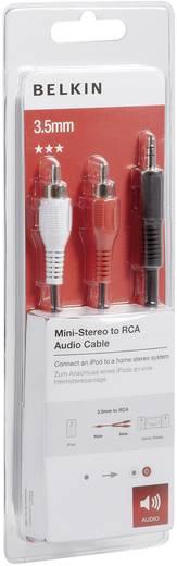 Jack - RCA audio kábel, 1x 3,5 mm jack dugó - 2x RCA dugó, 5 m, fekete, Belkin 993785
