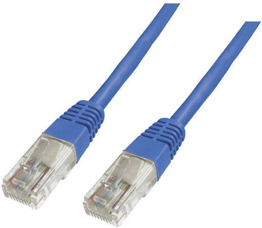 RJ45 Hálózat csatlakozókábel CAT 6 U/UTP 1x RJ45 dugó - 1x RJ45 dugó 5 m Kék UL minősített Digitus