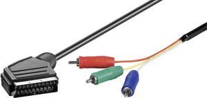SCART - Component video kábel, 1x SCART dugó - 3x RGB RCA dugó, 2 m, fekete, Goobay Goobay