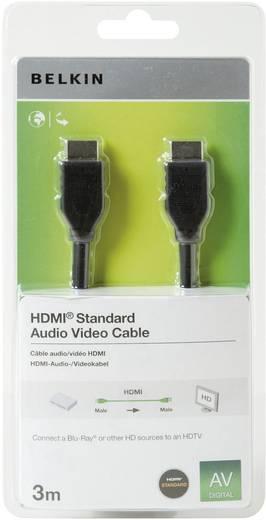 HDMI csatlakozókábel [1x HDMI dugó 1x HDMI dugó] 3 m fekete Belkin