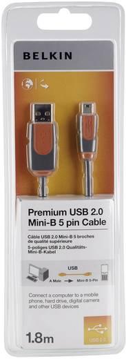 USB kábel A/mini B, 1,8 m, szürke, Belkin Premium