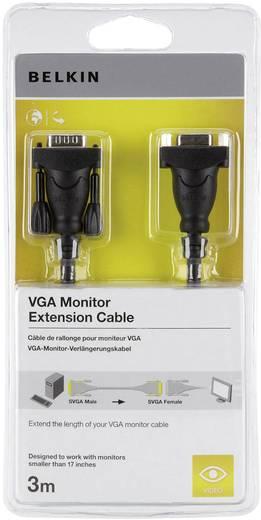 VGA hosszabbító kábel [1x VGA dugó 1x VGA alj] 3 m fekete Belkin
