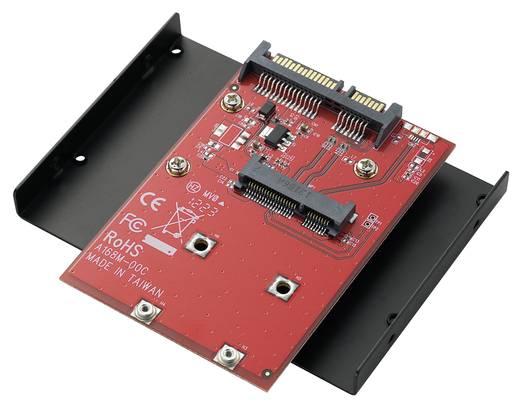 Konverter mSATA SSD - SATA 8,9 cm-es (3,5) beépíthető kerettel