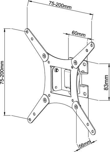 """TV fali tartó konzol, dönthető VESA szabvány (LCD/LED/Plazma), 25-56 cm (10"""" - 22"""") Vivanco WM 3215"""