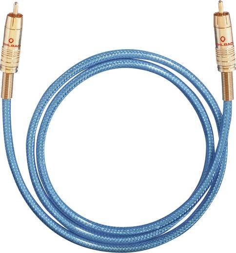 Digitális optikai audio kábel, Toslink dugó - dugó, 2 m, kék/ezüst, Oehlbach