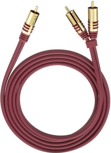 RCA Y kábel, [2x RCA dugó - 1x RCA dugó] 8 m, piros Oehlbach
