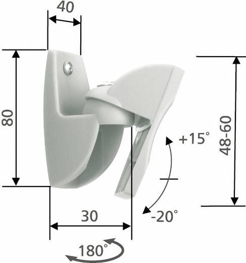 Állítható fali hangszóró tartó konzol 1pár ezüst Vogel´s VLB 500
