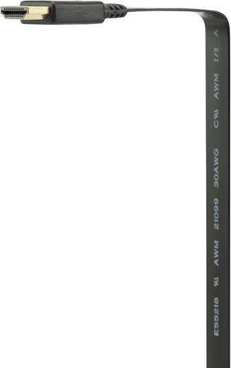 Nagy sebességű HDMI kábel (dugó/dugó) ethernettel, 2 m, lapos kivitel, SpeaKa Professional