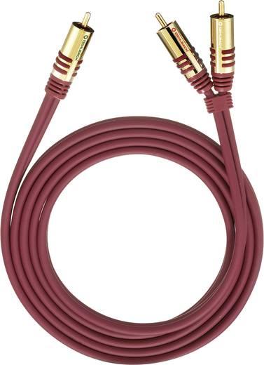 RCA Y kábel, [2x RCA dugó - 1x RCA dugó] 3 m, piros Oehlbach