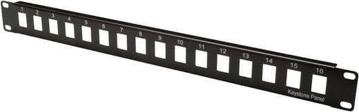 Beépíthető nyomógomb panel Digitus 19 1HE 16 Port