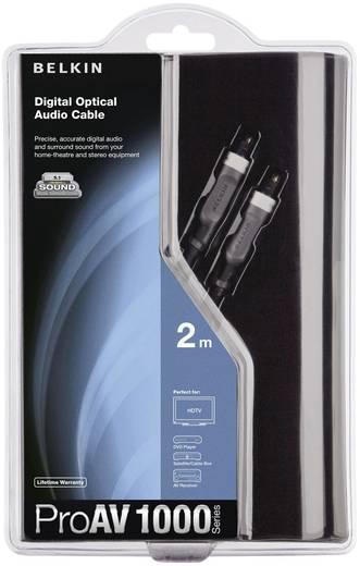 Toslink digitális Audio csatlakozókábel [1x Toslink dugó (ODT) - 1x Toslink dugó (ODT)] 1 m fekete Belkin