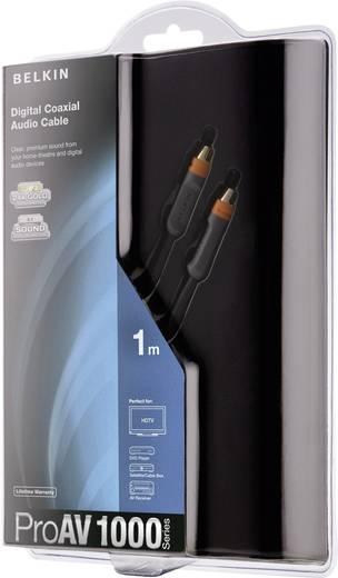 Digitális RCA audio kábel, dugó - dugó, 2 m, fekete, Belkin AV10010qp2M