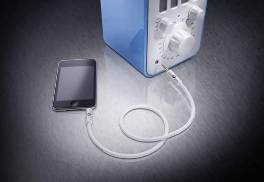 Jack audio hosszabbító kábel [1x jack dugó 3,5 mm - 1x jack alj 3,5 mm] 3 m, fehér, aranyozott Oehlbach