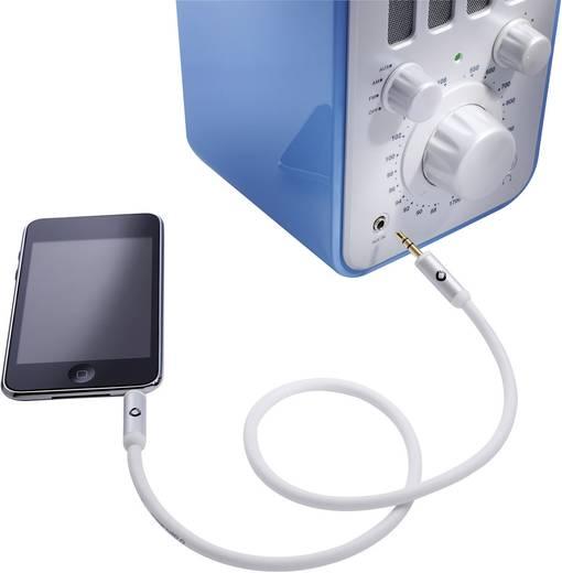 Jack audio kábel, 1x 3,5 mm jack dugó - 1x 3,5 mm jack dugó, 5 m, aranyozott, fehér, OFC, Oehlbach iJack 35