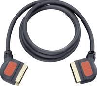 SCART AV kábel, 1x SCART dugó - 1x SCART dugó, 1,5 m, aranyozott, fekete, Oehlbach (5702) Oehlbach