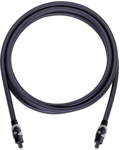 Toslink digitális Audio csatlakozókábel [1x Toslink dugó (ODT) - 1x Toslink dugó (ODT)] 1 m fekete Oehlbach
