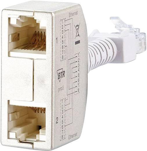 RJ45 Hálózat CAT 5 [2x RJ45 alj - 1x RJ45 dugó] 0 m Ezüst BTR Netcom 130548-03-E