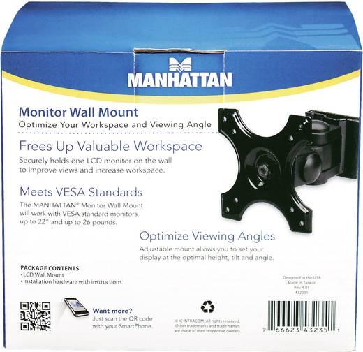 """LCD monitor fali tartó konzol, dönthető, forgatható, VESA szabvány 30,48 cm - 56 cm (12"""" – 22"""") Manhattan 432351"""