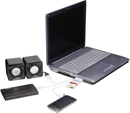 USB Hub és USB csatlakozó átalakító adapter, mikro,mini USB adapter 19 cm, Manhattan iLynk 161657