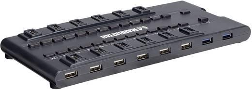 28 Portos USB 2.0 + USB 3.0 hub, USB elosztó Manhattan 161718