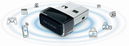 WLAN stick USB 2.0 150 MBit/s, 2.4 GHz, TP-LINK TL-WN725N, WLAN-N USB adapter, Nano TP-LINK WN725N
