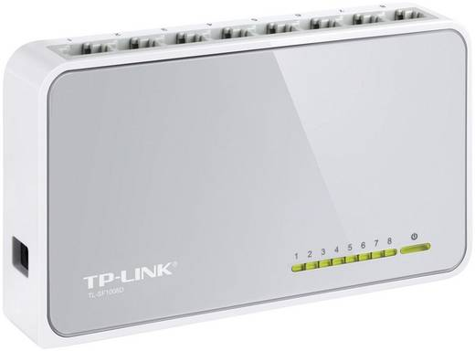 8 portos RJ45 ethernet switch 100 MBit/s TP-LINK TL-SF1008D