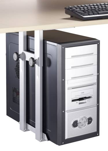 Számítógéptartó polc alá szerelhető, fekete