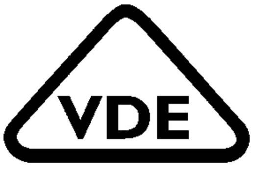 Hálózati csatlakozó alj, beépíthető, függőleges, pólusszám: 3, 16 A, fekete, Adels-Contact AC 166 GEBU/ 3