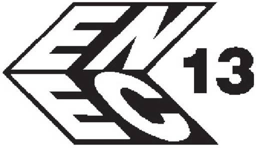Beépíthető hálózati műszercsatlakozó aljzat, függőleges, 3 pól., 16 A, fekete, C19, Kaiser 766/10/63/sw/C