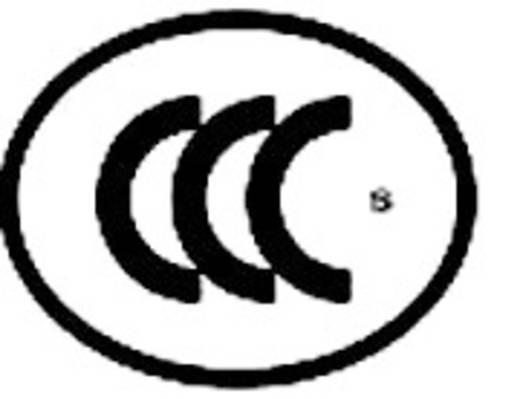Beépíthető hálózati műszercsatlakozó dugó, vízszintes, 3 pól., 2,5 A, fekete, C6, 715476