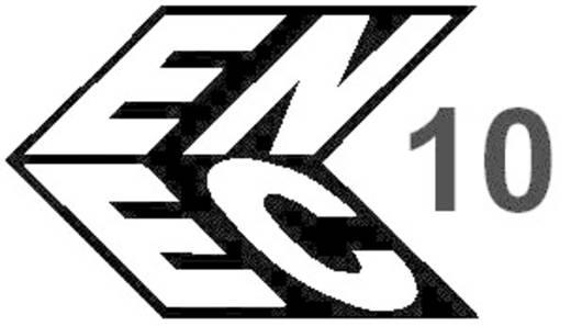 Lengő hálózati műszercsatlakozó dugó, 3 pól., egyenes, 10 A, fehér, C14, Kaiser 749/ws