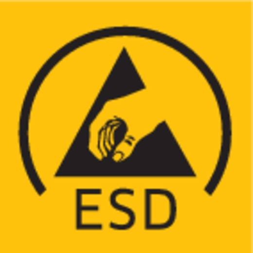 Csúszófedeles ESD tárolódoboz habszivacs betéttel 25 x 54 x 13 mm fekete BJZ C-186 001