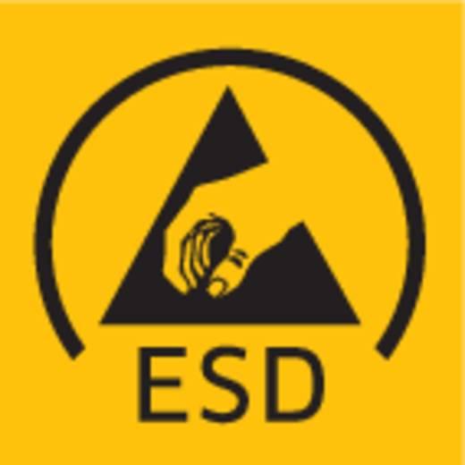 ESD alkatrésztároló doboz, egymásba csúsztatható alkatrésztároló 120 x 43 x 40 mm fekete BJZ C-188 052