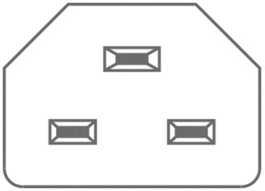 Beépíthető hálózati műszercsatlakozó dugó, függőleges, 3 pól., 16 A, fekete, C22, Kaiser 784/sw/C