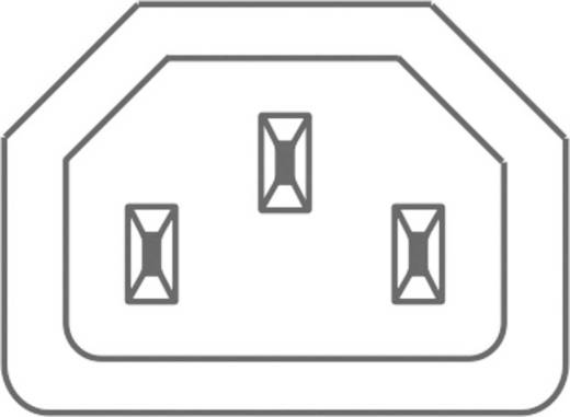 Beépíthető hálózati műszercsatlakozó aljzat, függőleges, 3 pól., 10 A, szürke, C13, Kaiser 796/gr