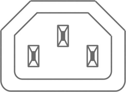 Lengő hálózati műszercsatlakozó aljzat, 3 pól., pipa, 10 A, fekete, C13, Kaiser 798/sw/C