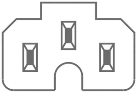 Hálózati műszercsatlakozó C15A alj, egyenes, pólusszám: 2 + PE 10 A, fekete, Kaiser 789/sw/C