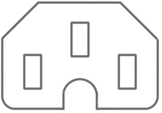 Lengő hálózati műszercsatlakozó aljzat, 3 pól., egyenes, 10 A, szürke, C15, Kaiser 783/gr