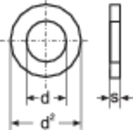 Toolcraft műanyag alátét, natúr poliamid, M3 DIN 125 PA6,6, 10 db