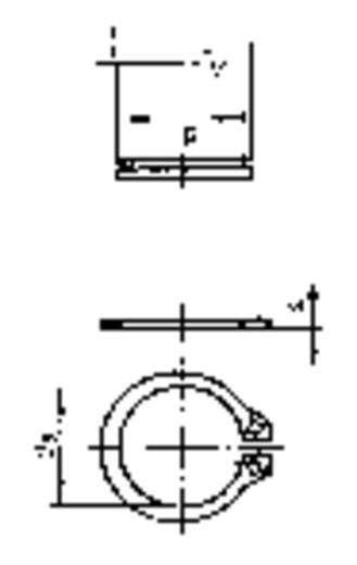 Toolcraft horganyzott acél biztosító gyűrű (seeger), 9 mm, DIN 471, 100 db
