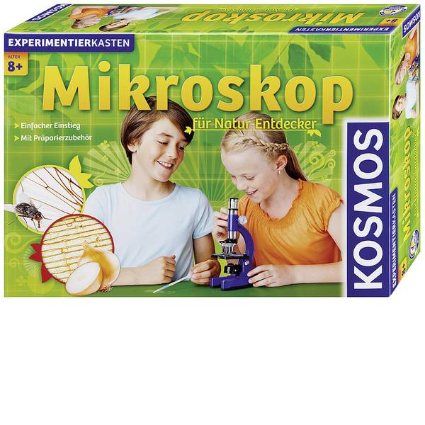 Kit microscopi e telescopi - Kit esperimenti Kosmos Mikroskop für Natur-Entdecker 635213 da 8 anni -