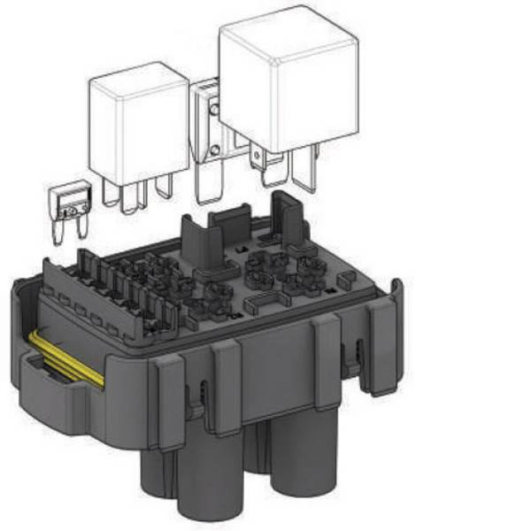 Portafusibili auto - MTA Fuse/Relay Hol Maxi Micro Relay WP Portafusibile/relè 1 pz. -