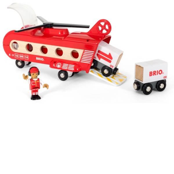 Trenini e binari per bambini - Ravensburger BRIO Eisenbahn-Transporthubschrauber, ab 3 Jahre, Holz 33886 -