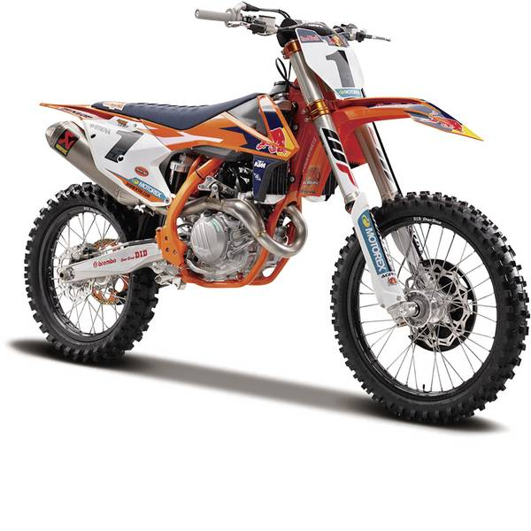 Modellini statici di auto e moto - Maisto KTM Supercross Red Bull 1:6 Motomodello -