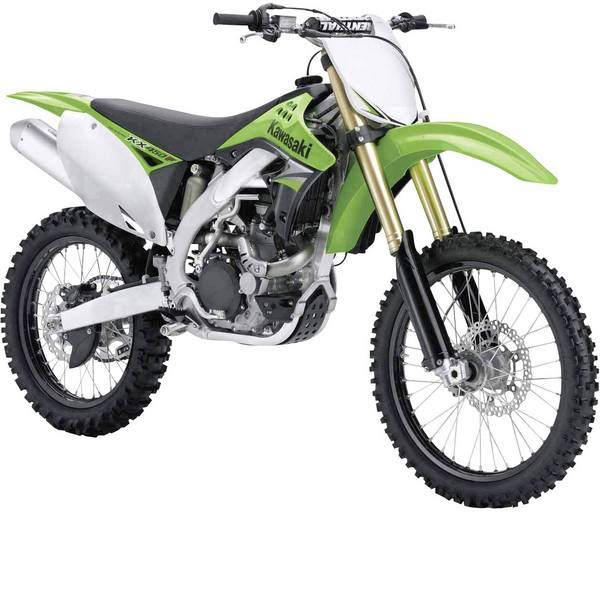 Modellini statici di auto e moto - Maisto Kawasaki KX 450F 1:12 Motomodello -