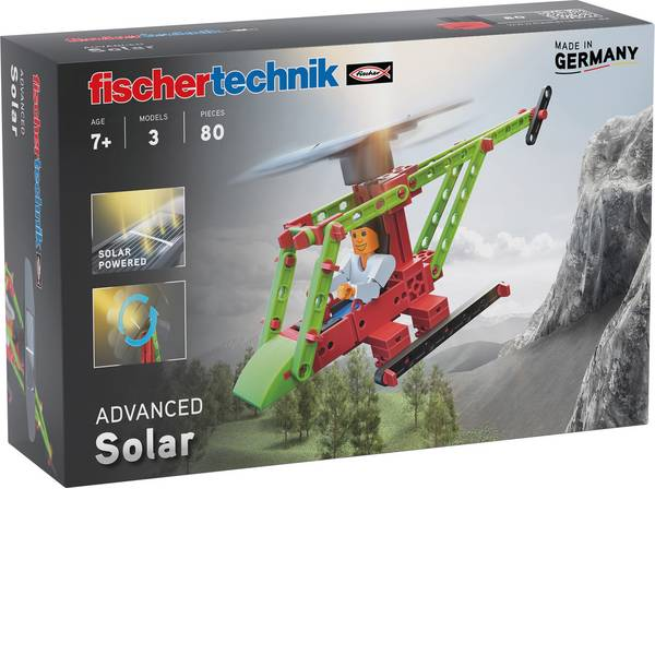 Pacchetti di apprendimento elettrici ed elettronici - fischertechnik ADVANCED Solar 544616 Kit da costruire da 7 anni -