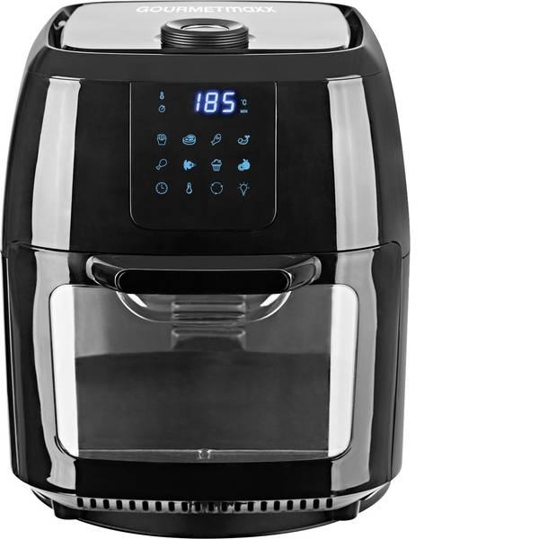 Friggitrici - GourmetMaxx 02095 Friggitrice ad aria calda 1800 W con spiedo, Preselezione temperatura, Funzione timer Acciaio, Nero -