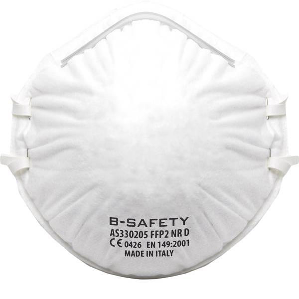 Maschere per polveri fini - Mascherina antipolvere senza valvola FFP2 B-SAFETY pure breath AS330205 10 pz. -